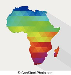 Map of colorful Africa