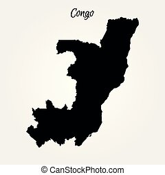 Map of Congo. Vector illustration. World map