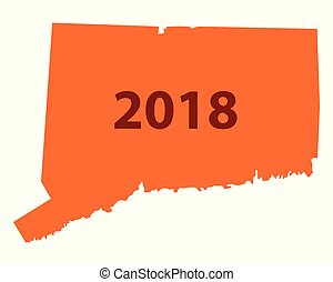 Map of Connecticut 2018