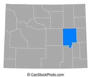 Map of Converse in Wyoming