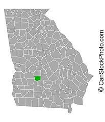 Map of Crisp in Georgia