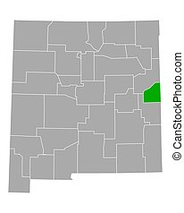 Map of Curry in New Mexico