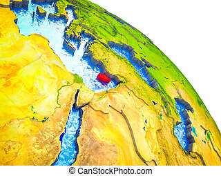 Map of Cyprus on 3D Earth