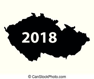 Map of Czech Republic 2018