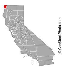 Map of Del Norte in California