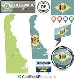 Map of Delaware, US