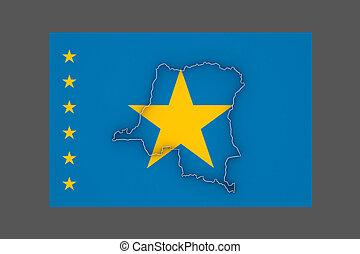 Map of Democratic Republic of Congo.