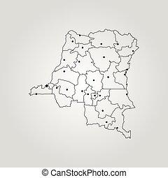 Congo Democratic Republic Political Map With Capital Kinshasa