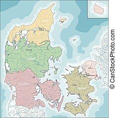 Map of Denmark - The Kingdom of Denmark is a Scandinavian...