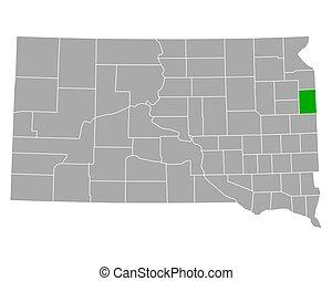 Map of Deuel in South Dakota
