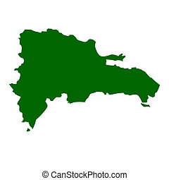 Map of Dominican Republic, isolated on white background.