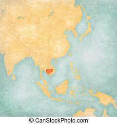 Map of East Asia - Cambodia