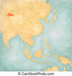 Map of East Asia - Kyrgyzstan