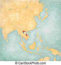 Map of East Asia - Laos