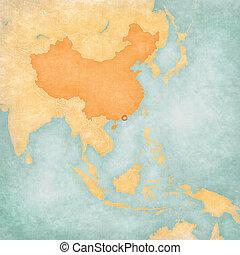Map of East Asia - Macau