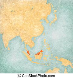 Map of East Asia - Malaysia
