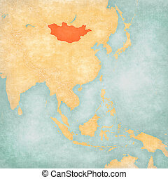 Map of East Asia - Mongolia