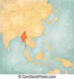 Map of East Asia - Myanmar