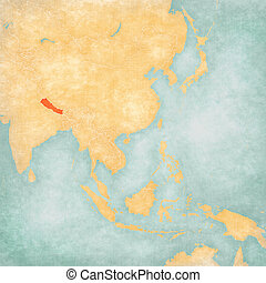 Map of East Asia - Nepal