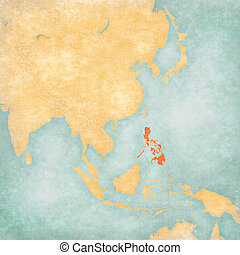 Map of East Asia - Philippines