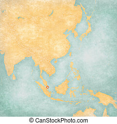 Map of East Asia - Singapore