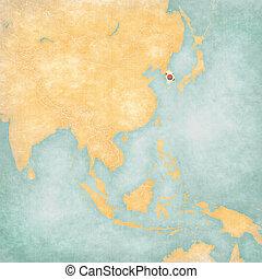 Map of East Asia - South Korea