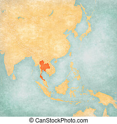 Map of East Asia - Thailand