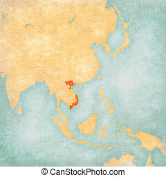 Map of East Asia - Vietnam