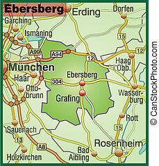 Map of ebersberg