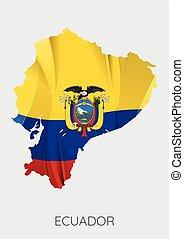 Map of Ecuador - Map Of Ecuador With Flag As Texture...