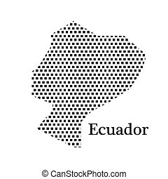 map of Ecuador,dot
