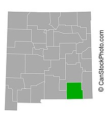 Map of Eddy in New Mexico