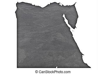 Map of Egypt on dark slate