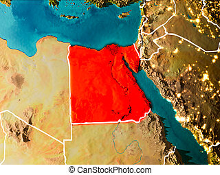 Map of Egypt on Earth