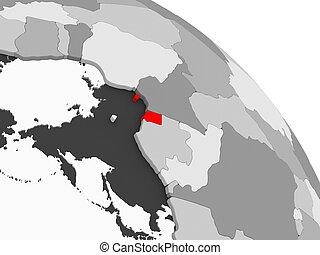 Map of Equatorial Guinea - 3D render of Equatorial Guinea in...