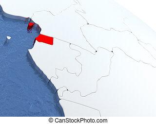 Equatorial Guinea on globe