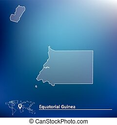 Map of Equatorial Guinea - vector illustration
