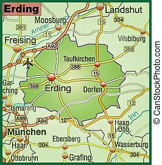 Map of erding