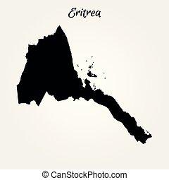 Map of Eritrea. Vector illustration. World map