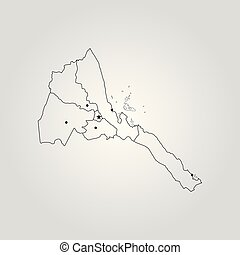 Map of eritrea vector of eritrea set with detailed country map of eritrea vector illustration world map gumiabroncs Gallery