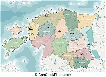 Map of Estonia - Estonia is a country in the Baltic region...