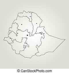 Ethiopia political map political map of ethiopia with vector map of ethiopia vector illustration world map gumiabroncs Image collections