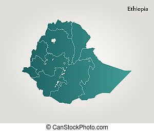 Detailed vector map of ethiopia and capital city addis ababa map of ethiopia vector illustration world map gumiabroncs Images