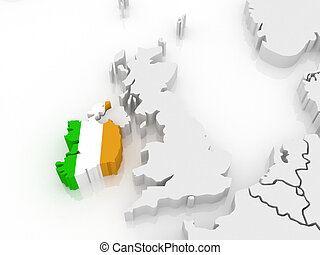 Map of Europe and Ireland.