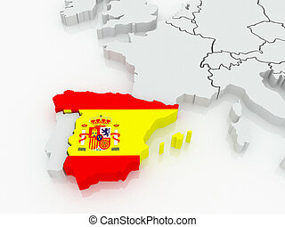 Map of Europe and Spain.