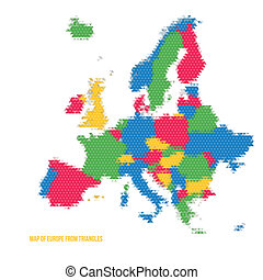 Map of Europe from Triangles