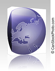 Map of Europe sphere box package