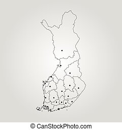 Helsinki World Map.Area Map Of Helsinki Finland Dark Background Version For