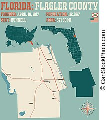 Map of Flagler County in Florida