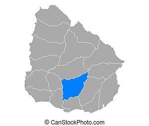 Map of Florida in Uruguay